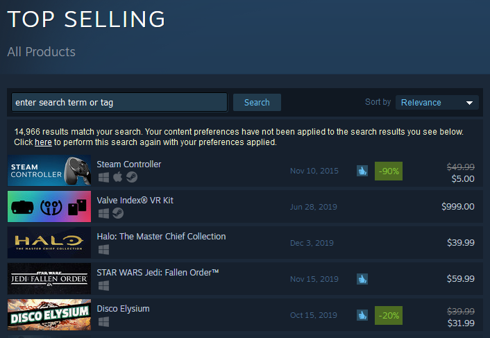 Steam _ Top Selling 2019-11-26 9pm.png